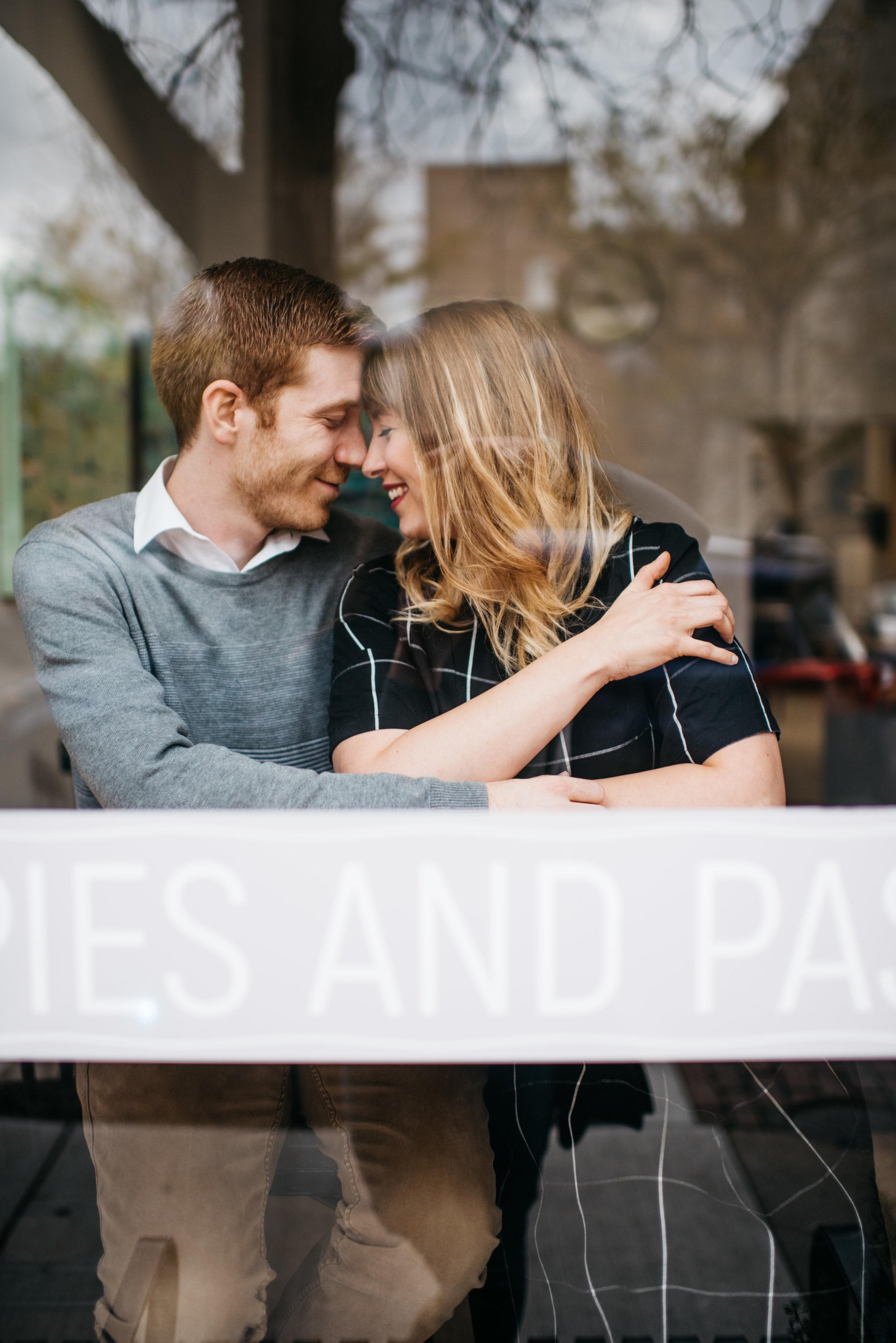 Modern Bakery Engagement Session Greenhouse Erika Aileen Photography Lafayette Indiana Wedding Photographer