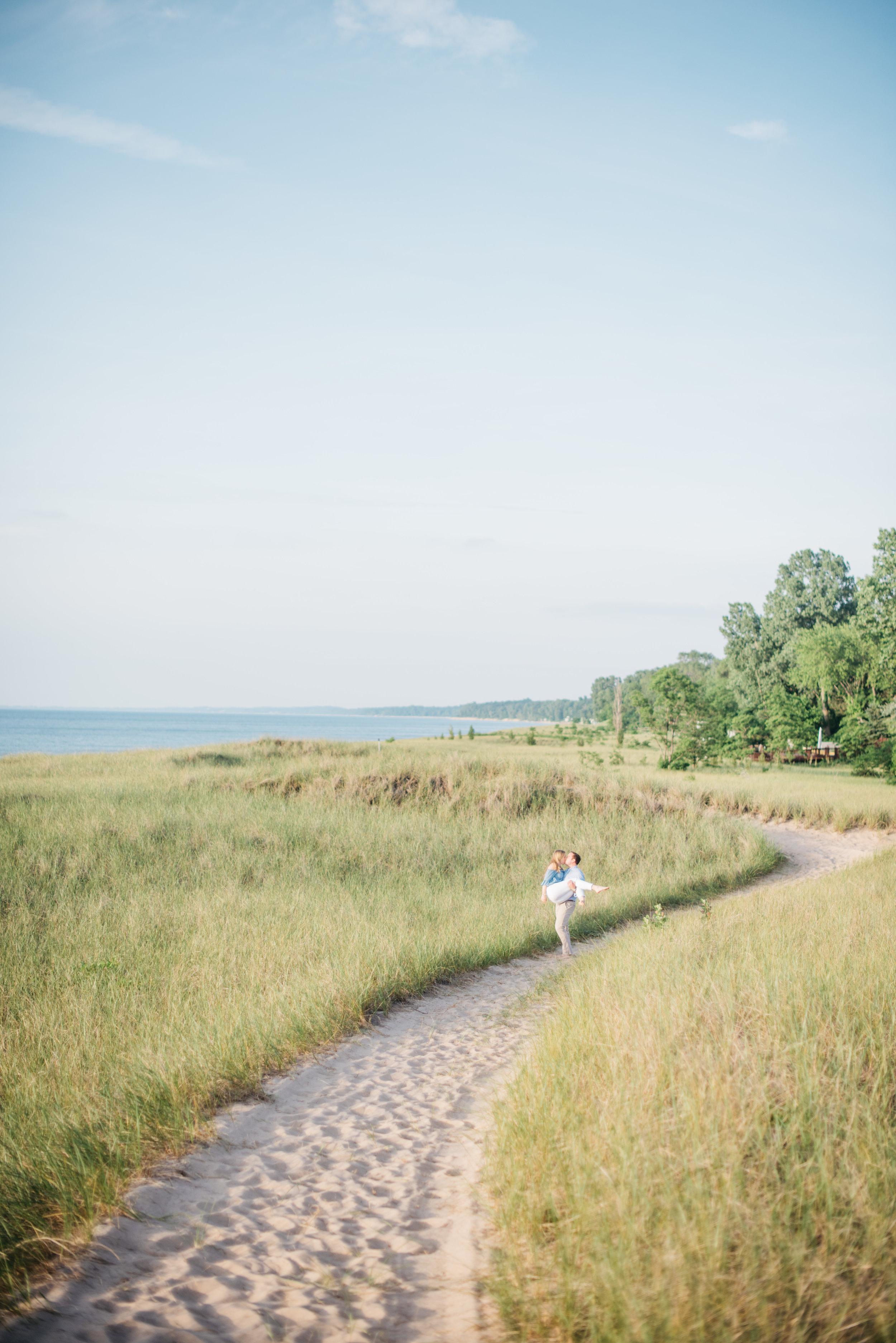 Erika Aileen Photography New Buffalo Wedding Photographer Galien River Park New Buffalo Engagement Session
