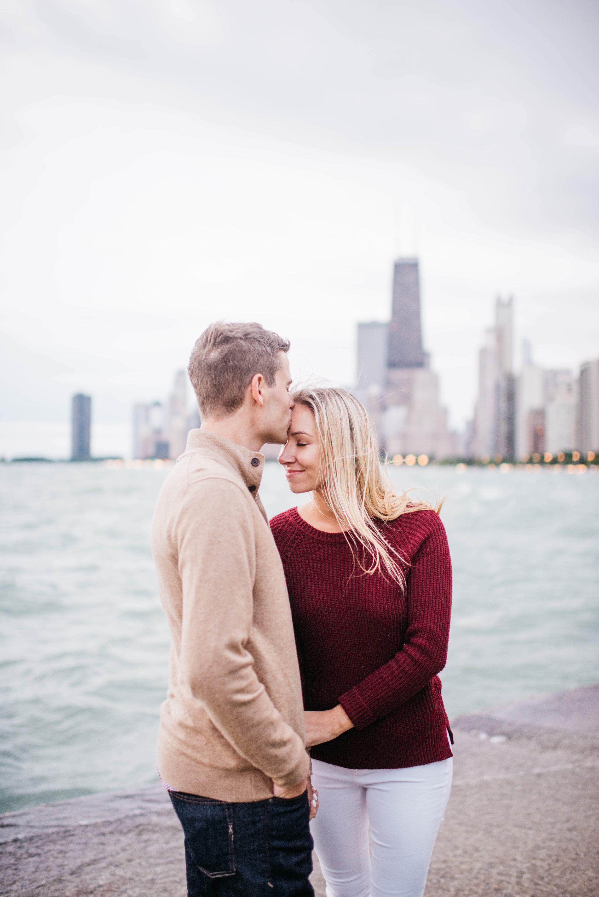 Chicago River Engagement Session North Avenue Beach Engagement Session Erika Aileen Photography Chicago Wedding Photographer