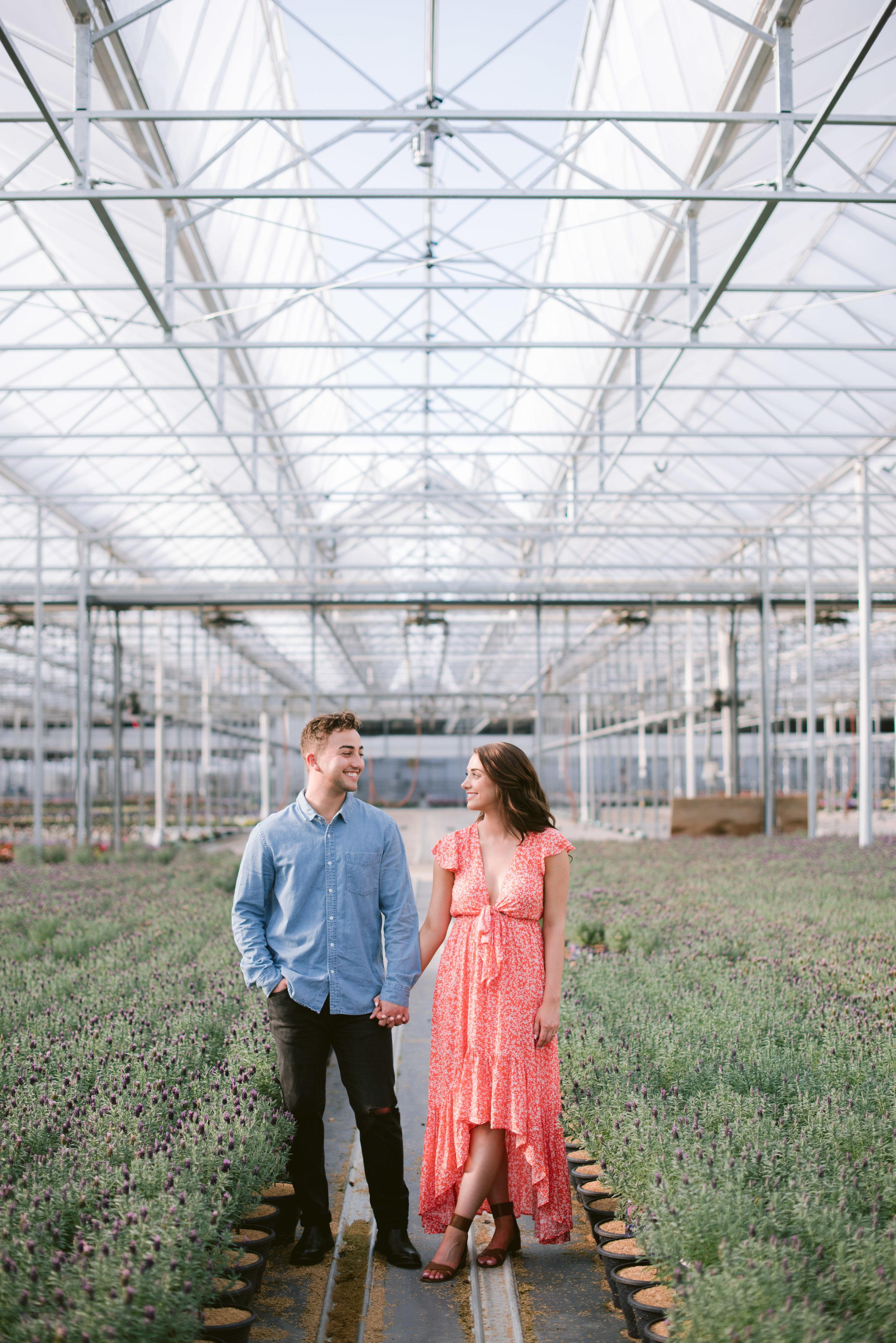 indianapolis greenhouse engagement session erika aileen photography indianapolis wedding photographer
