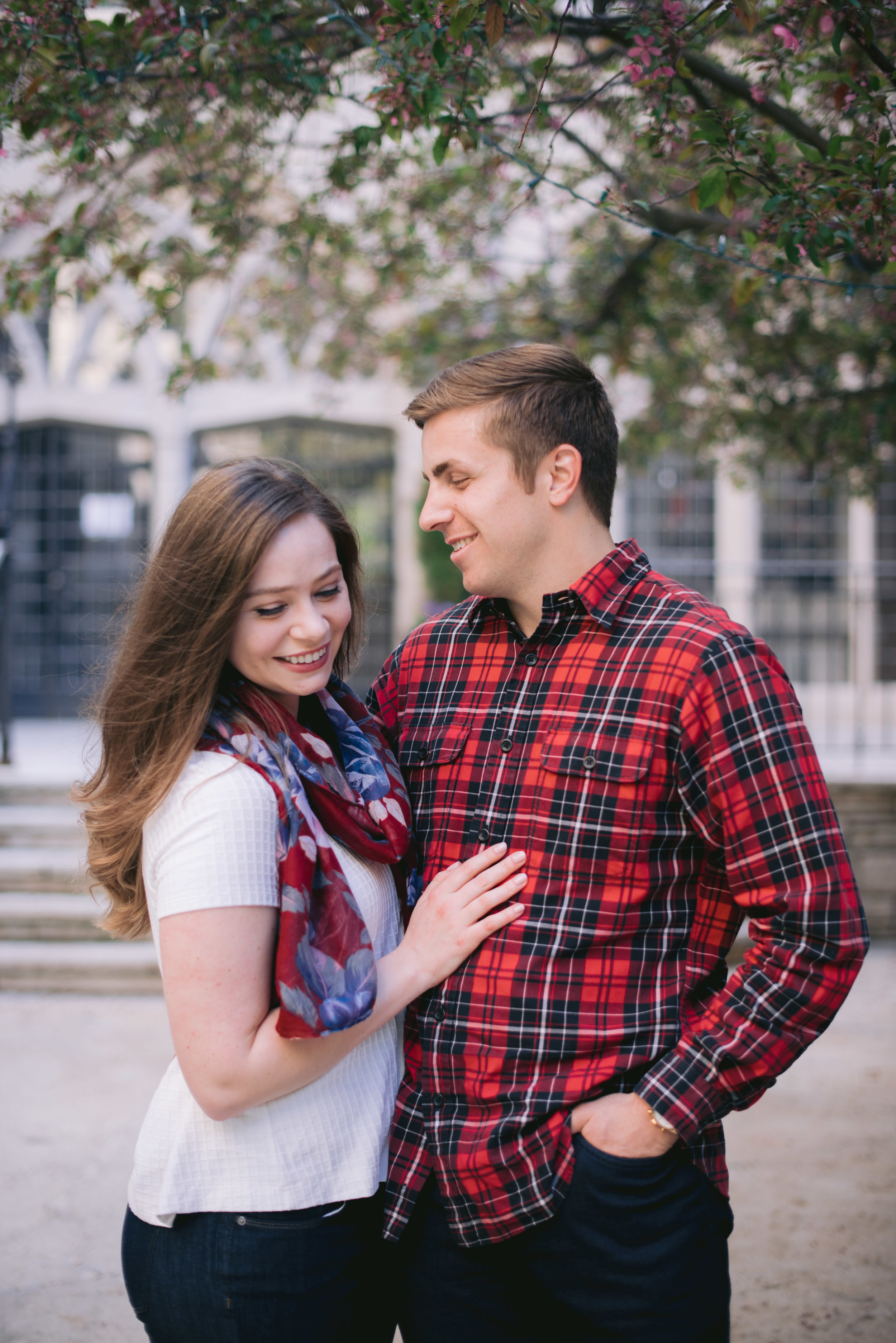 Old Town Chicago Engagement Erika Aileen Photography Chicago Wedding Photographer