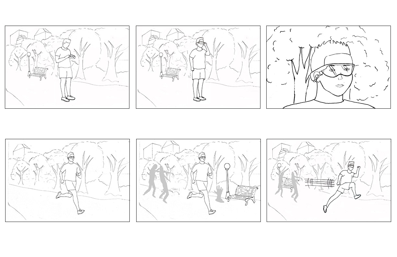 Zombies Run (storyboard)