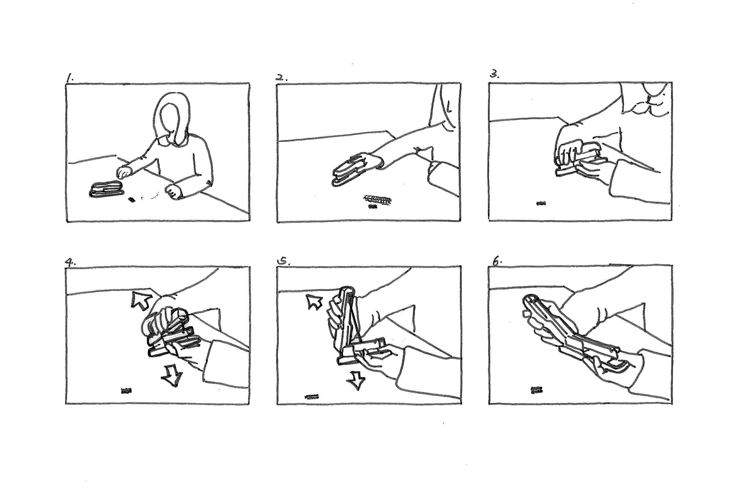 Storyboard: how to refill a stapler 1