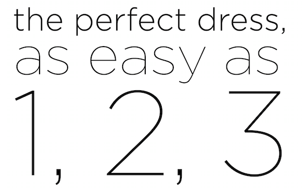 Wedding Dress as easy as 1,2,3
