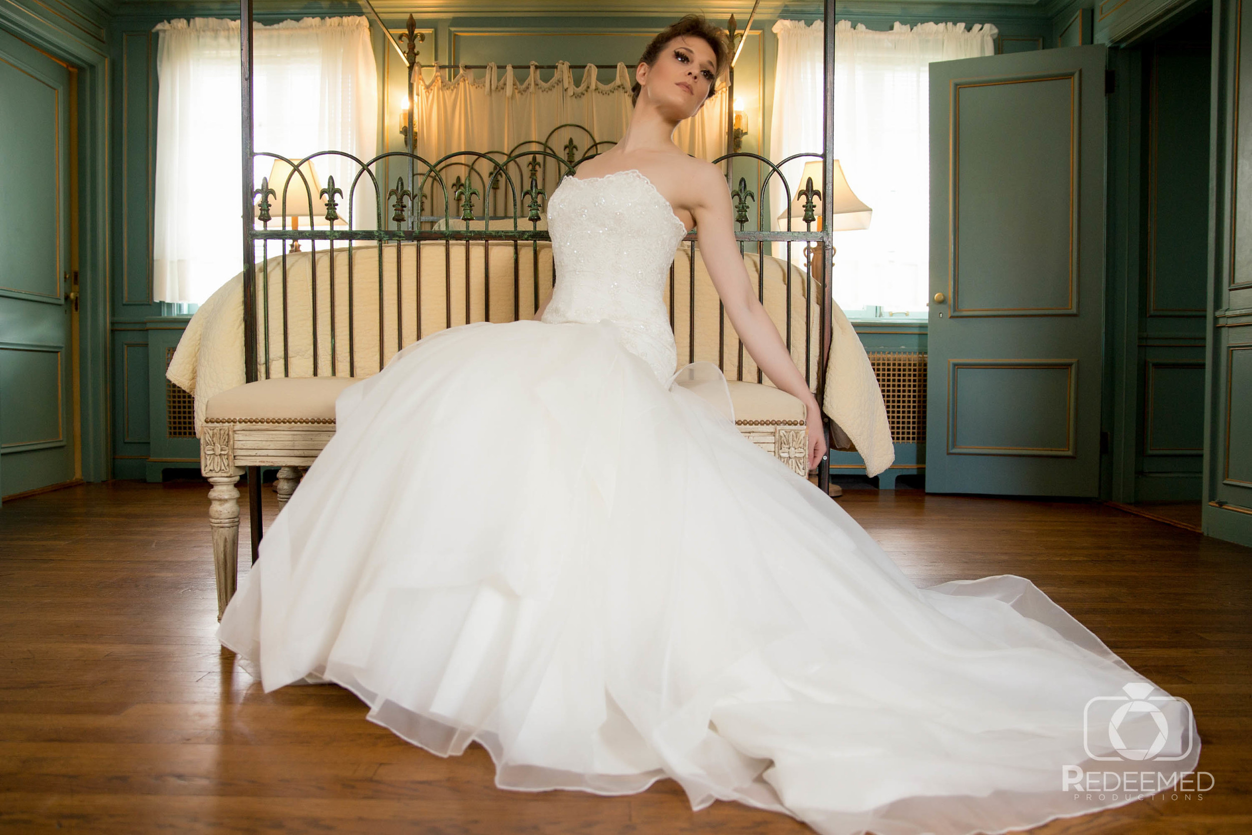Bridal Couture by Sonni Custom lace full length gown