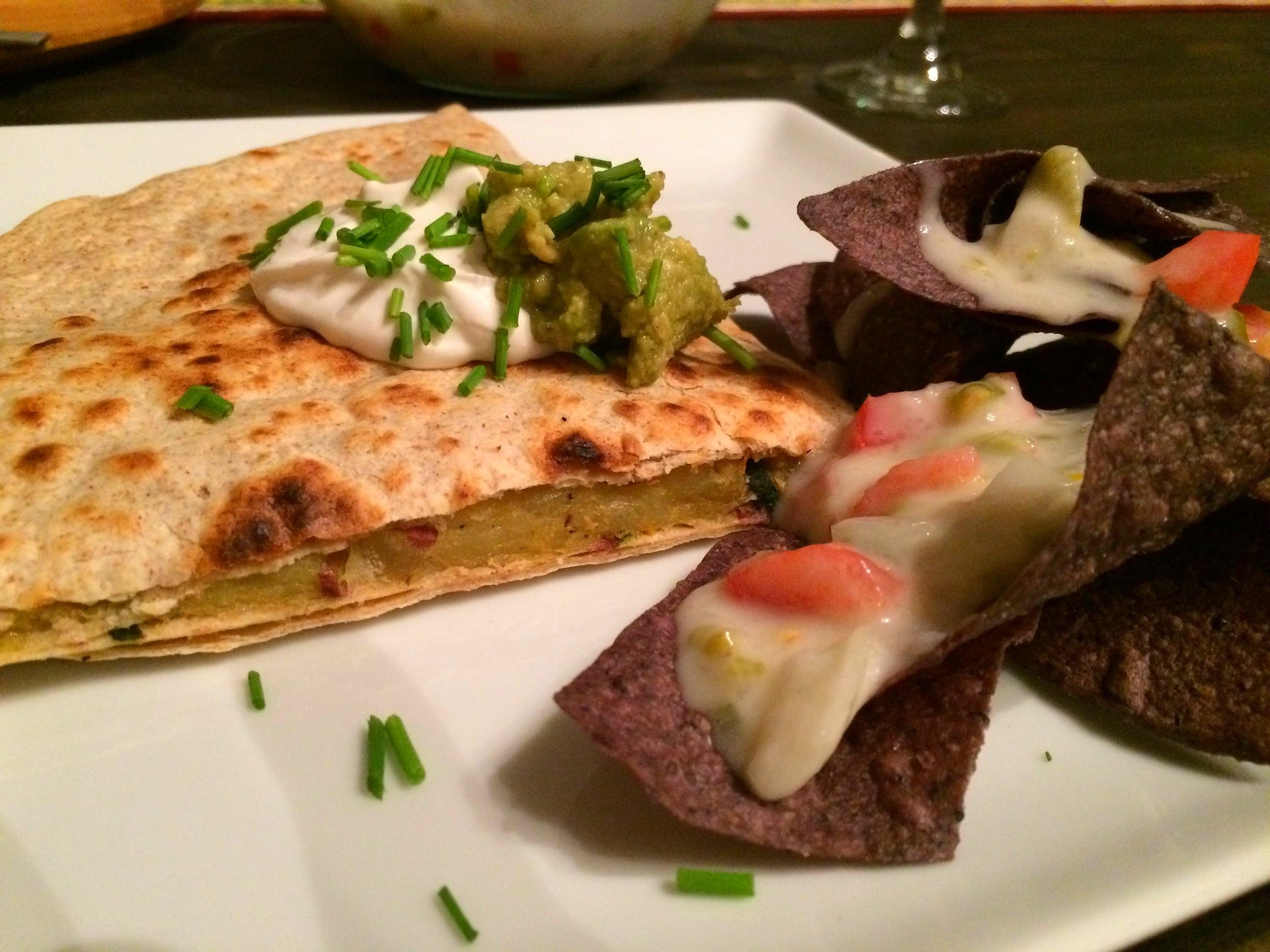 Quesadilla with Nachos
