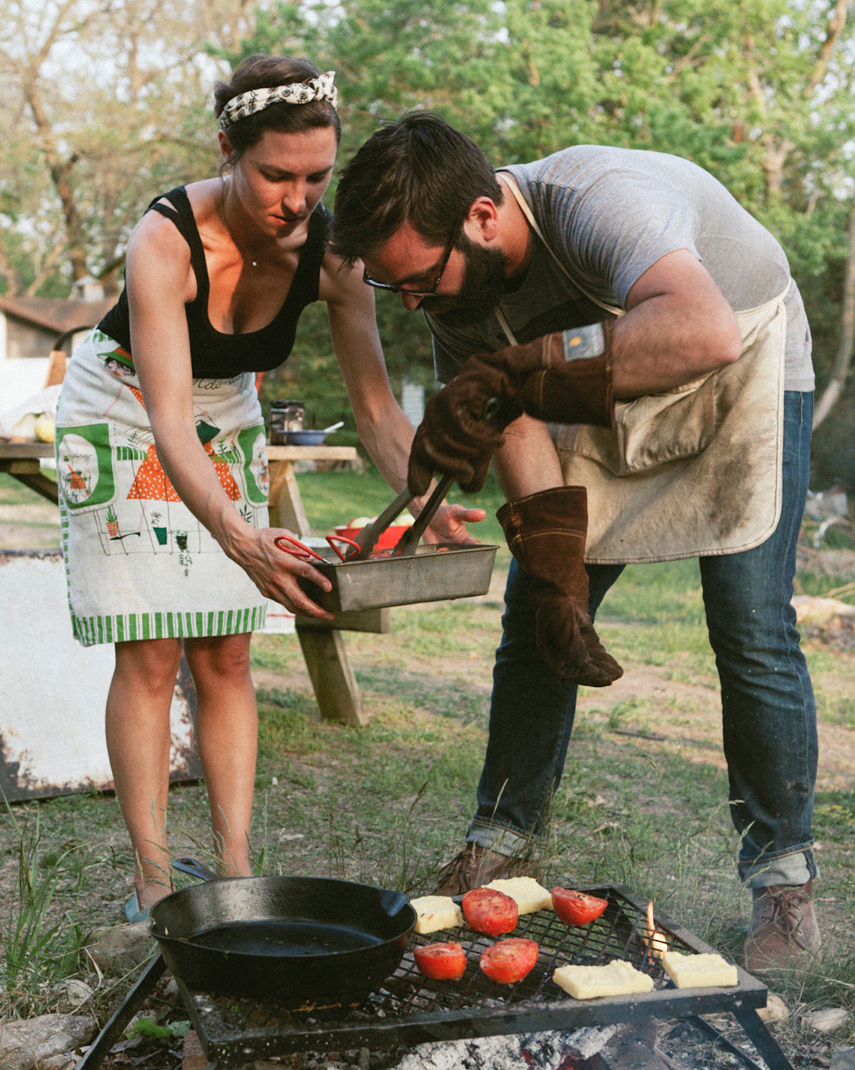 Our favorite thing to do : cook! Photo by Paul Octavious
