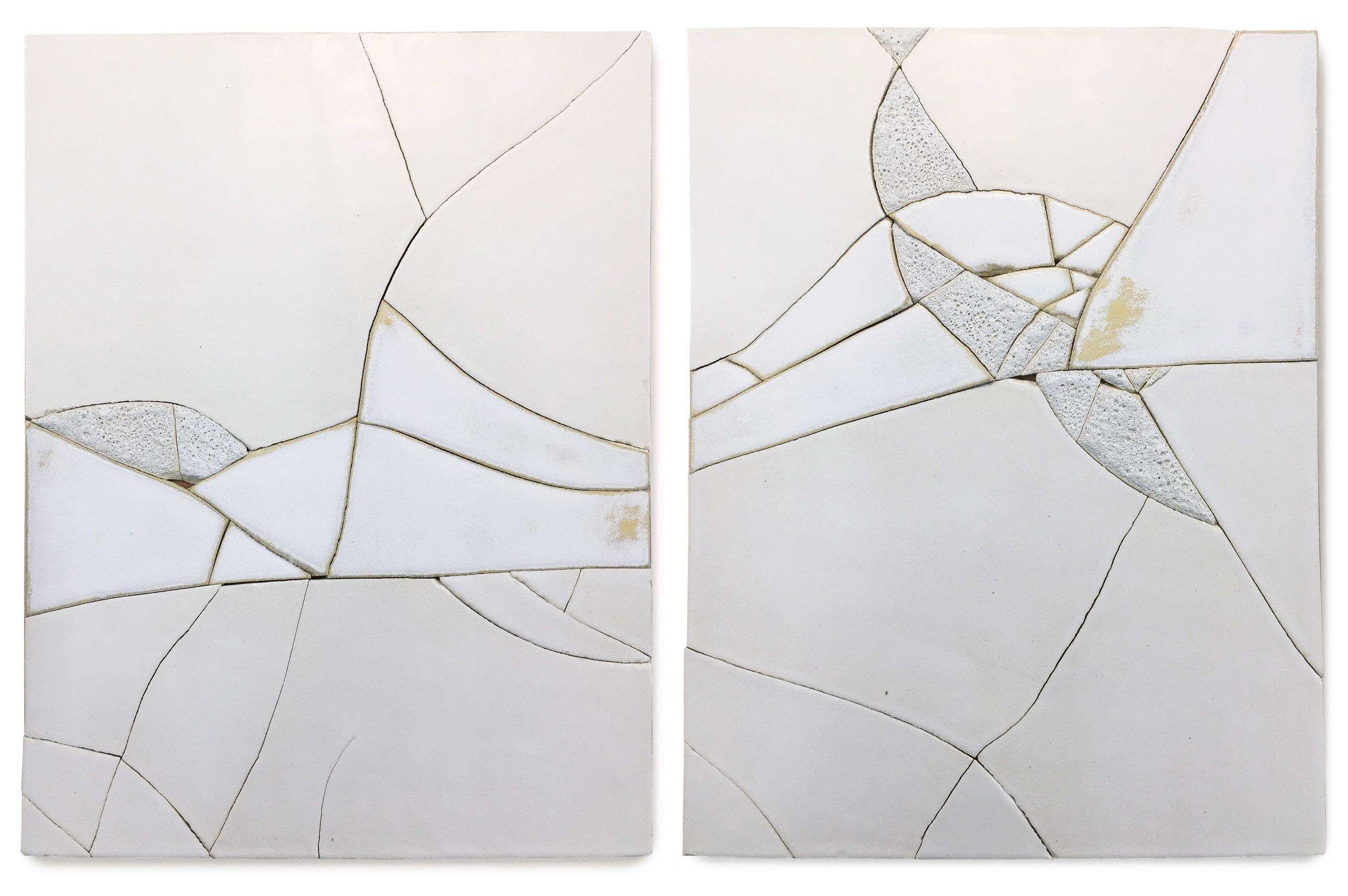 Iceberg II   • Set of 2 panels, 14 x 18 inches each