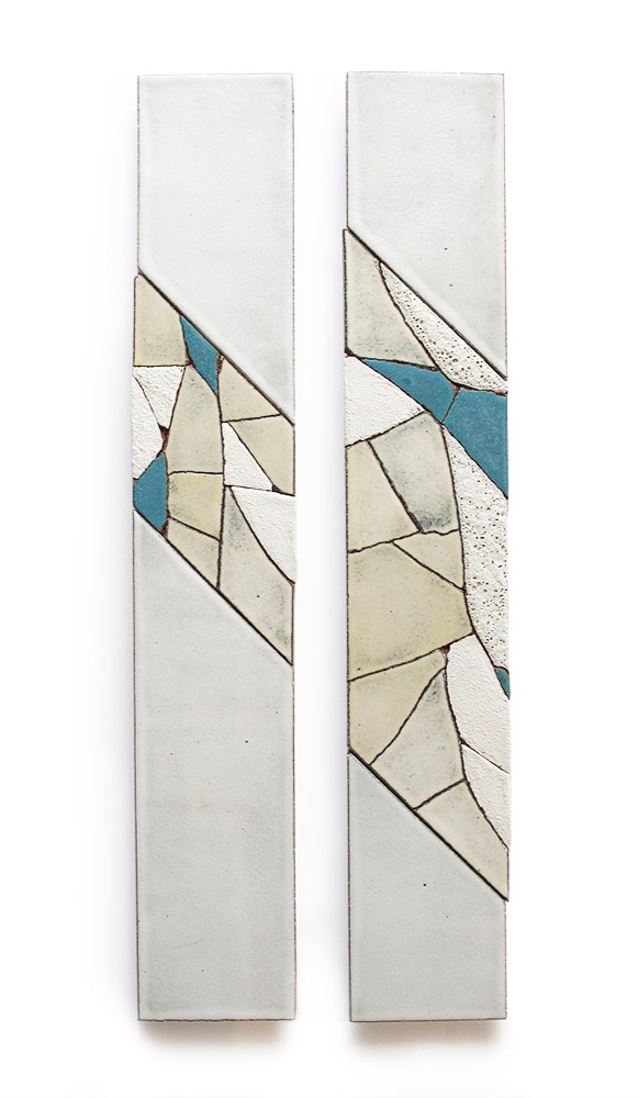 Slope  • Set of two panels, 3.5 x 24 inches each