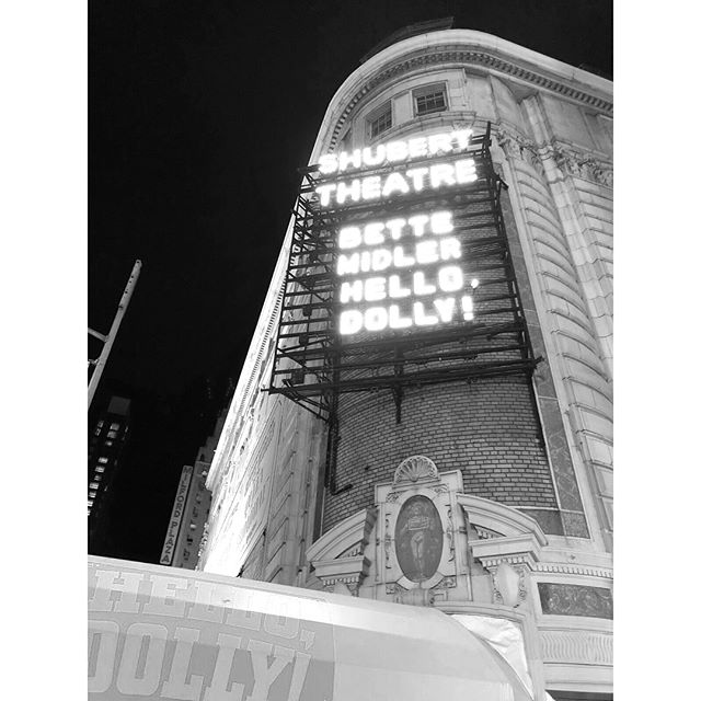 I watched the movie countless times growing up - maybe it is even how I began to fall in love with this city. Rediscovering it on the stage was the most magical and classic New York send off I could imagine...so grateful for our town, it's incredible talent and endless inspiration. #newyorknewyork #hellodolly #bette ✨✨✨