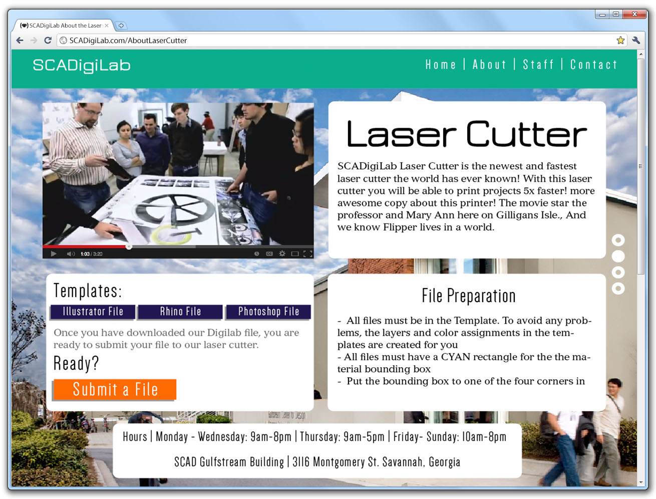 SCAD DigiLab About the Laser Cutter