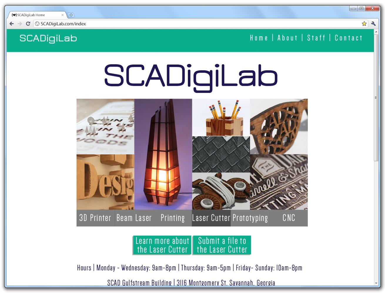 SCAD DigiLab Home Page