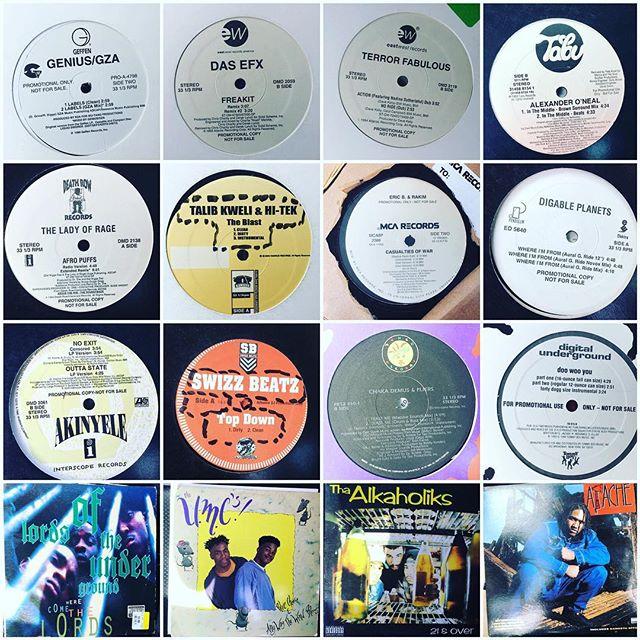 Thrift shop goldmine. Best $16 I ever spent. #vinyl #hiphop #goldenagehiphop #records #rap