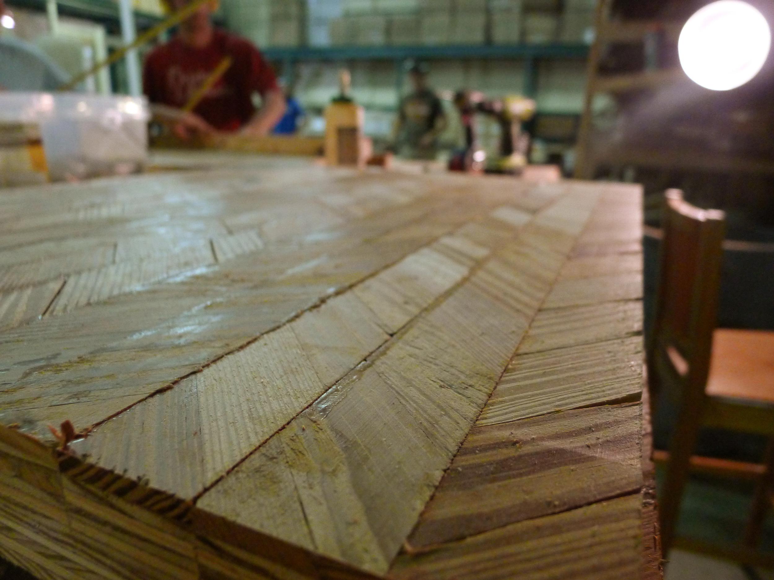 Plaster lathe mosaic production under way!