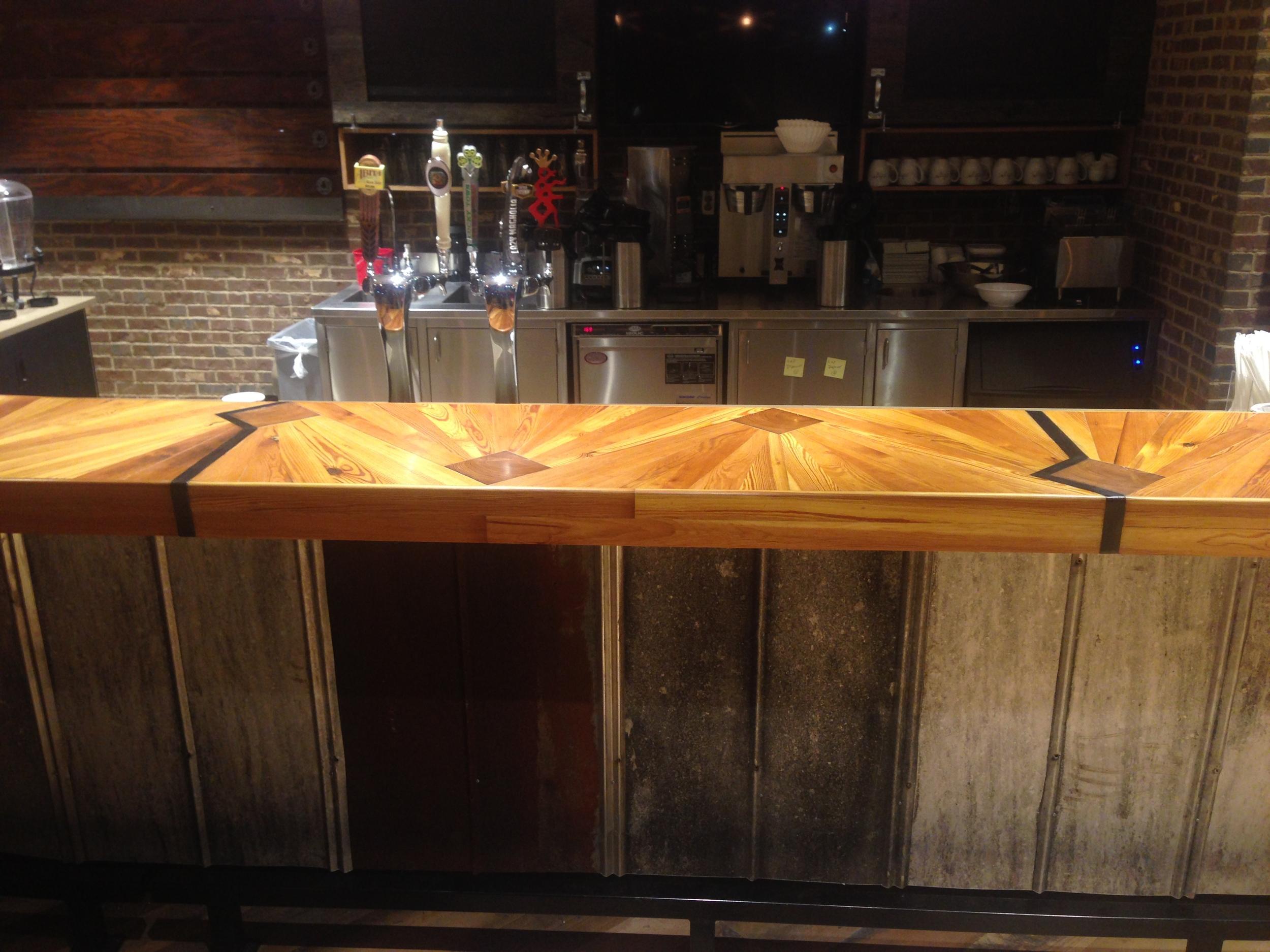 """""""Mississippi Delta"""" bar top detail"""