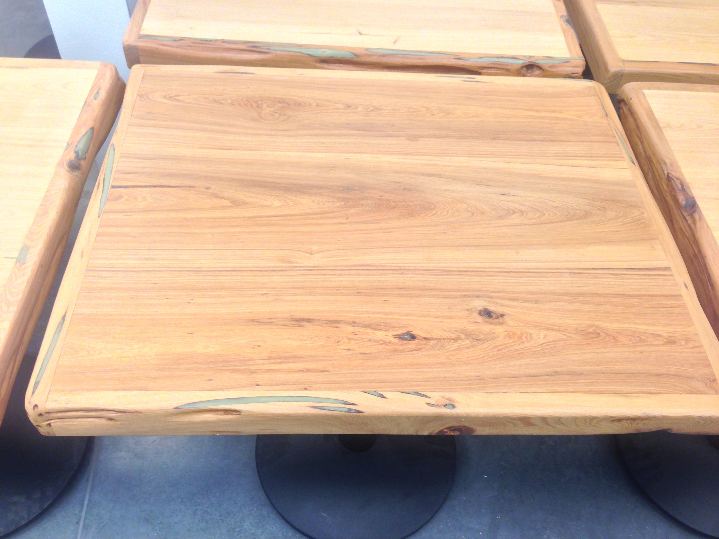 """""""Free-edge Cypress"""" two-top table"""