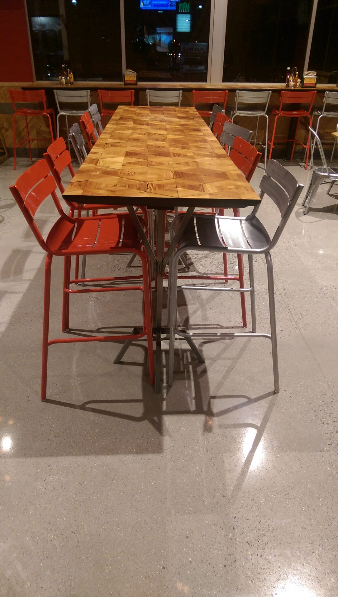 ten-top tall table