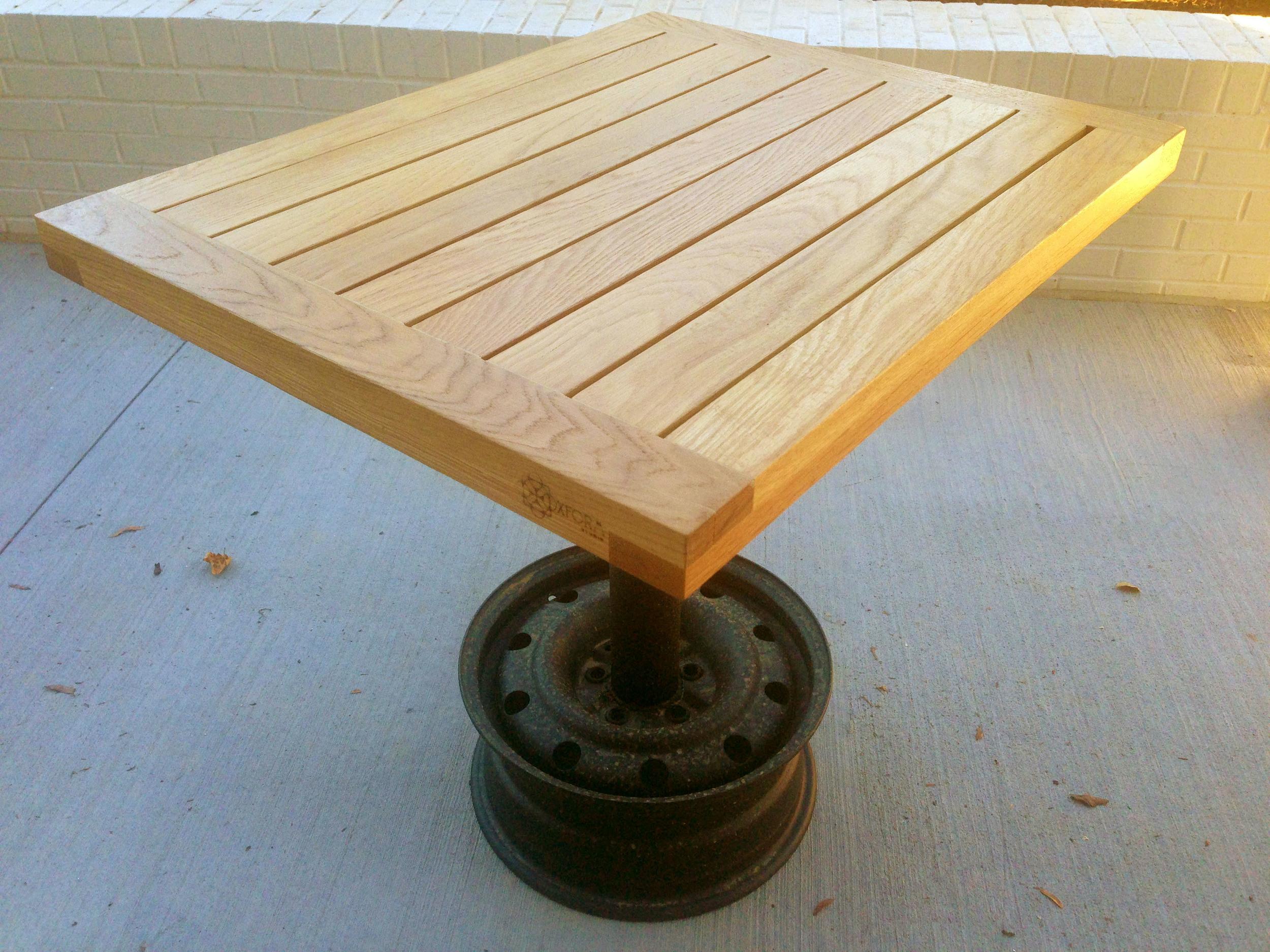 white oak - exterior two-top tables