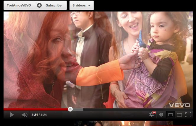 Featured in - Tori Amos, Flavor - music video directed by Danielle Levitt. Tori hands a fairy to my daughter Noor.