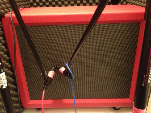 Custom 2 X 12 Cab from Lopo Line. Celestion g12h30 speaker on one side, and an Alnico Blue speaker on the other. Is it unique? No doubt about it.
