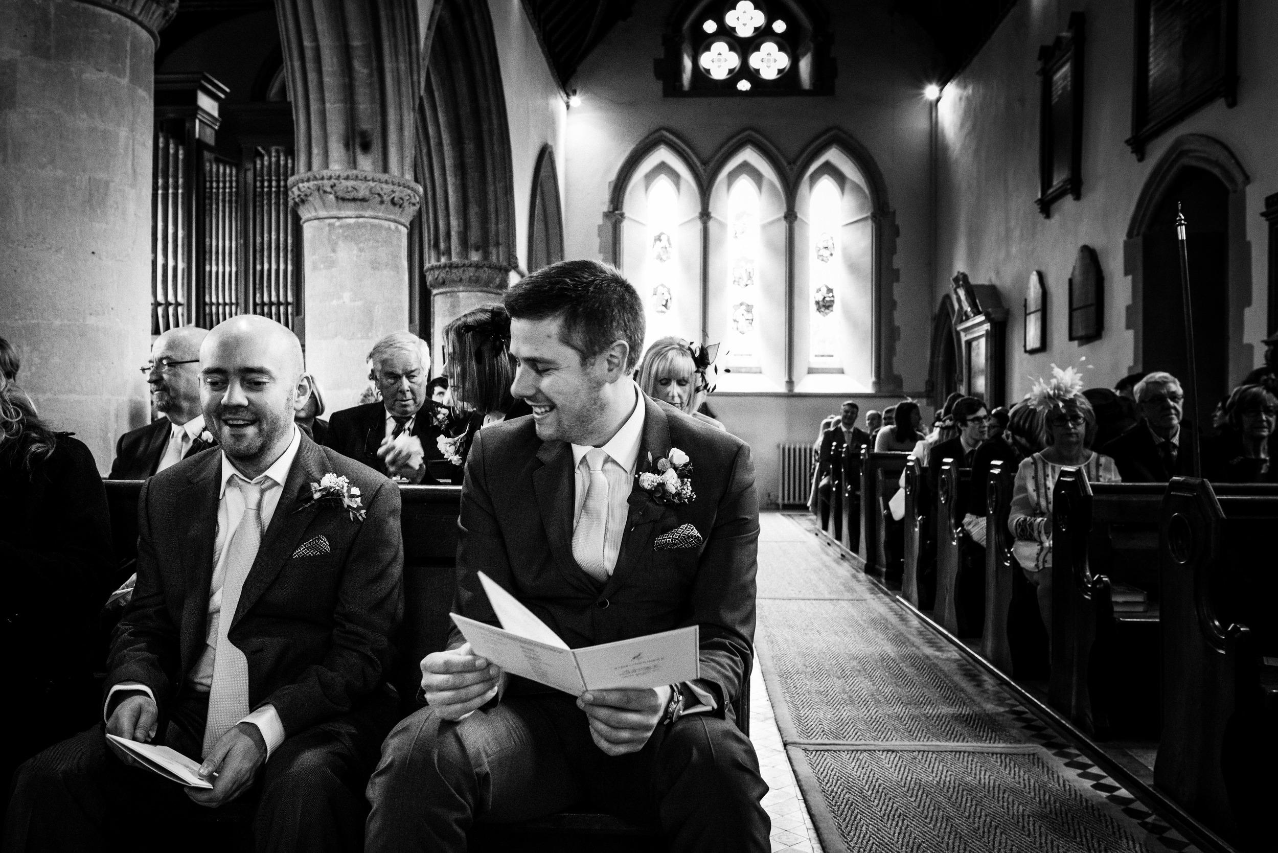 happy nervous groom - st marks, englefield