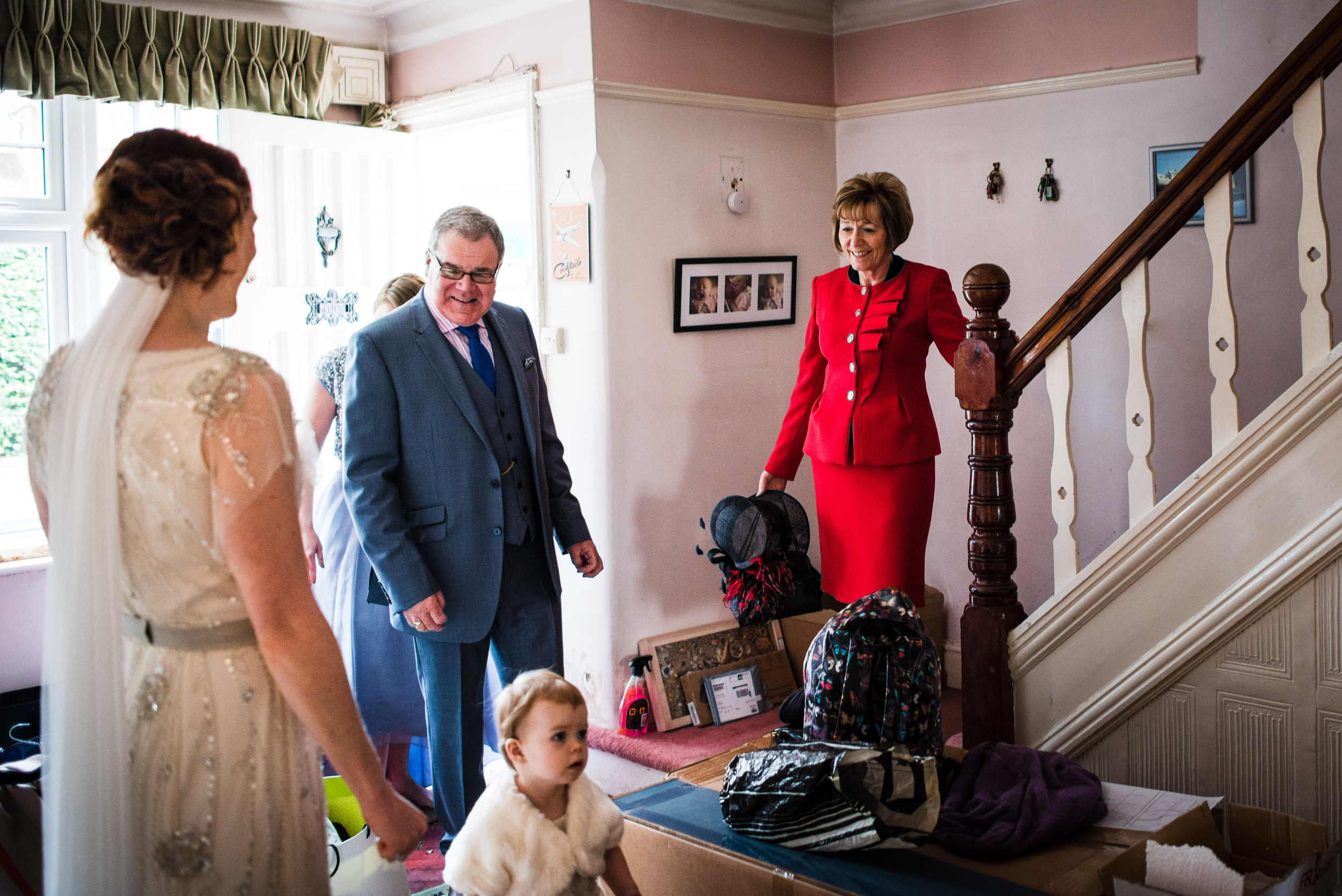 father and mother first look - ufton court