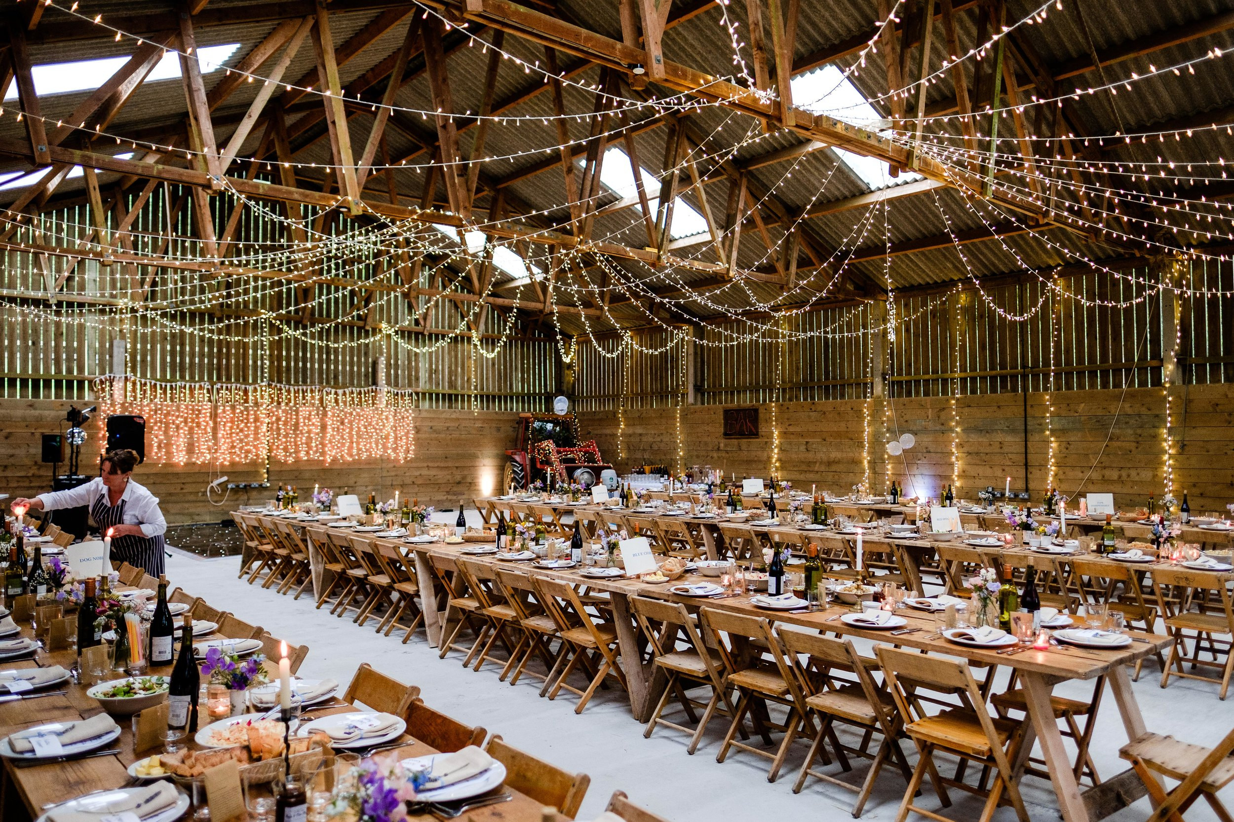 farm wedding - gorgeous barn decorations