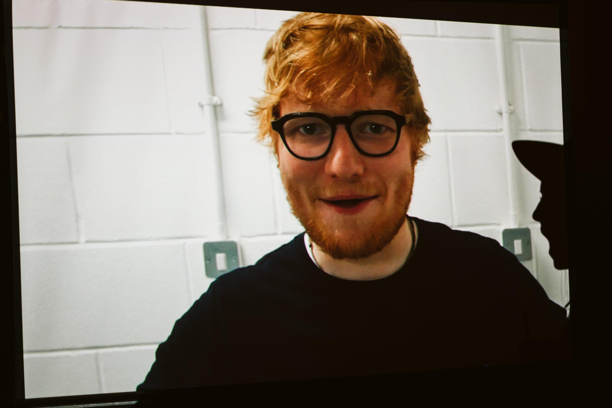 Celebrity Ed Sheeran at Wedding