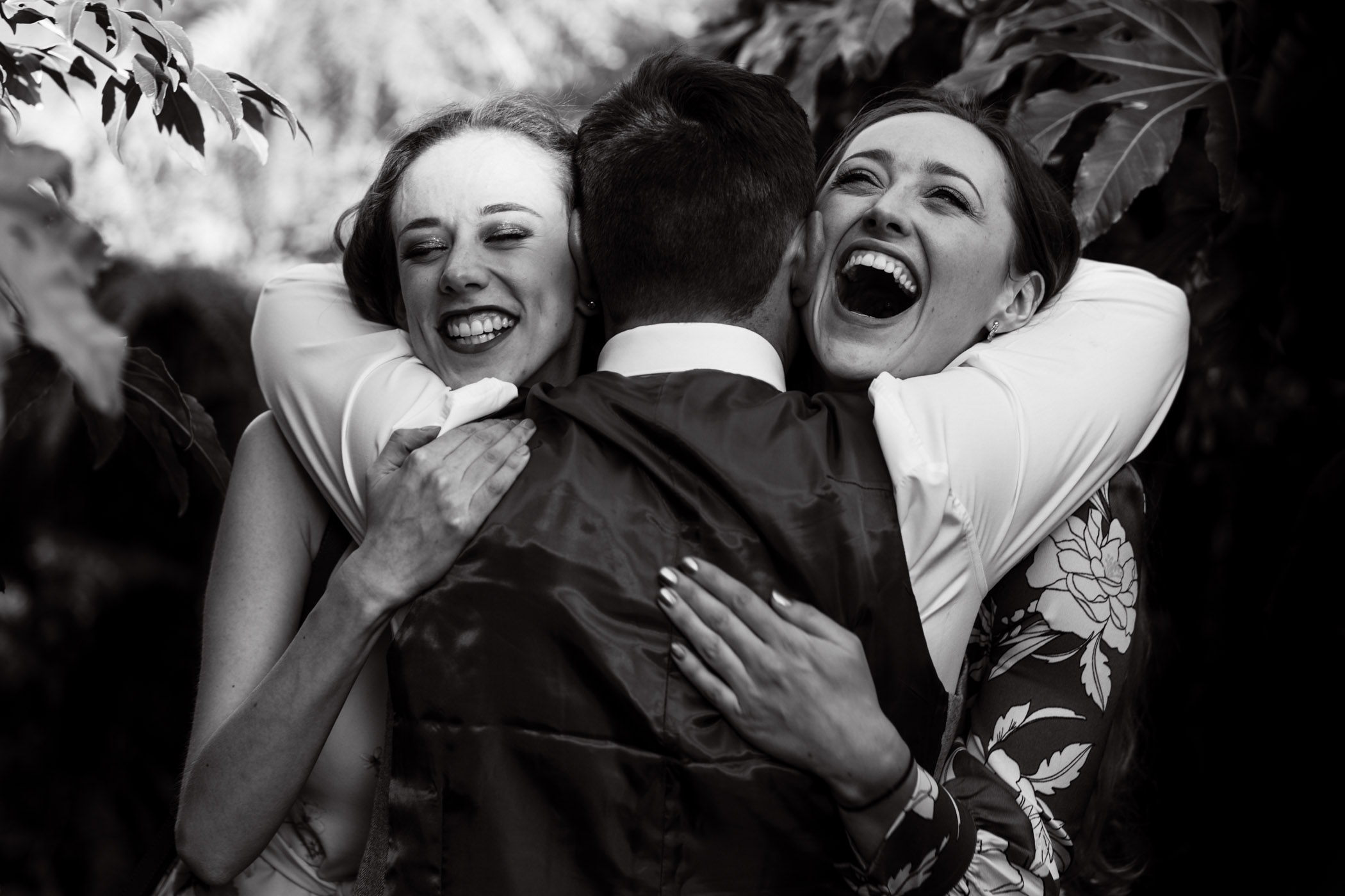 Another personal favourite of mine, I capture so many hugs and kisses at weddings but I do love to capture a double hug with amazing expressions