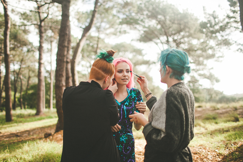 jessie mcnaught styling, madeline rae mason modeling and chereine waddell on makeup - the colourful hair team.