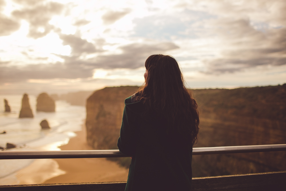 taking in the views of the 12 apostles in the last moments of sunlight.