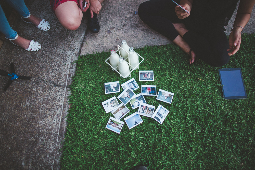 Our last afternoon hanging out with Jessie before she left on her overseas adventure, sorting through all the polaroids we took that day.