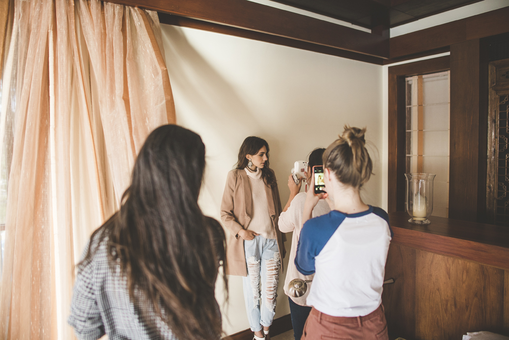 Behind the scenes shooting LadyLuna's winter campaign. You can see the final images  here !