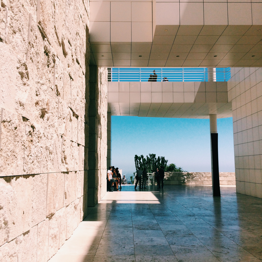 Exploring the Getty Center.