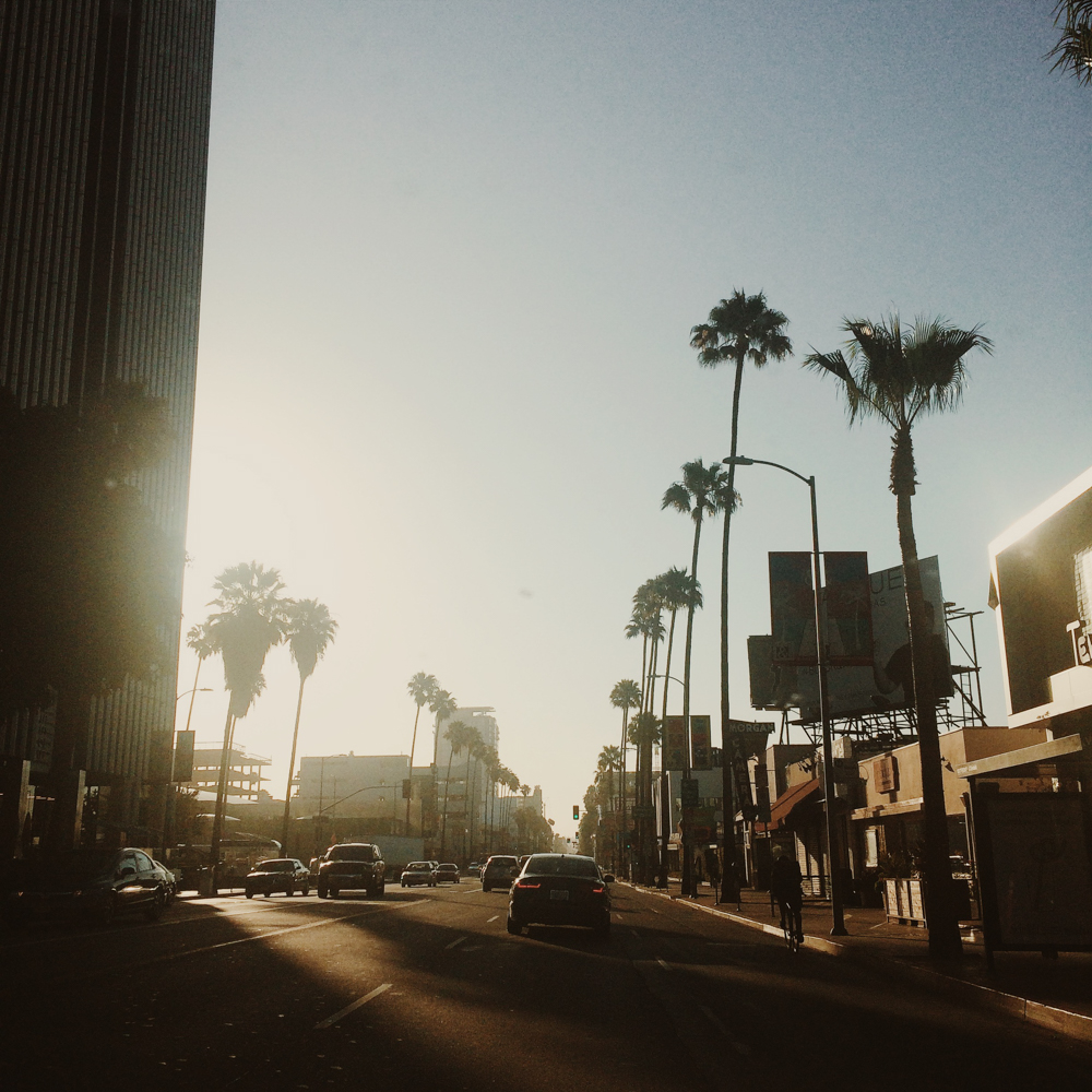 Early morning drives through downtown LA.