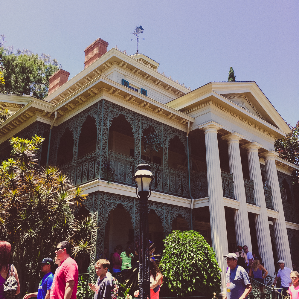 The Haunted Mansion ride, Disneyland.