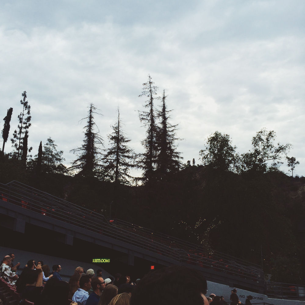 Watching Ben Folds perform at the Greek Theatre.