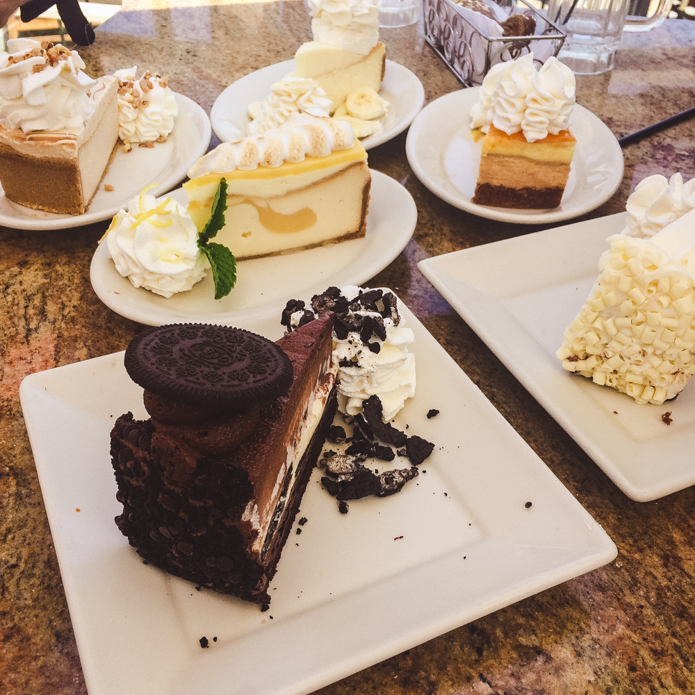 We went to the Cheesecake Factory for my birthday - it was beyond delicious!