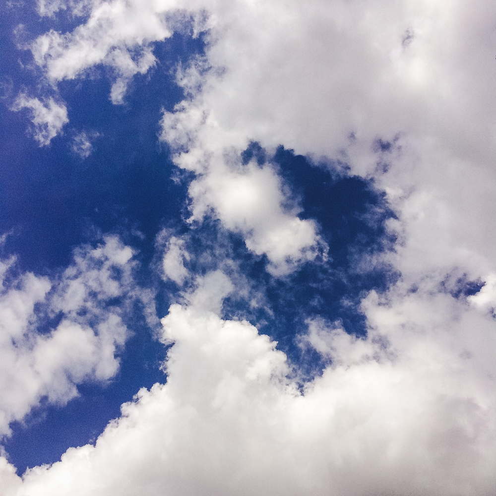Fluffy clouds - my favourite!