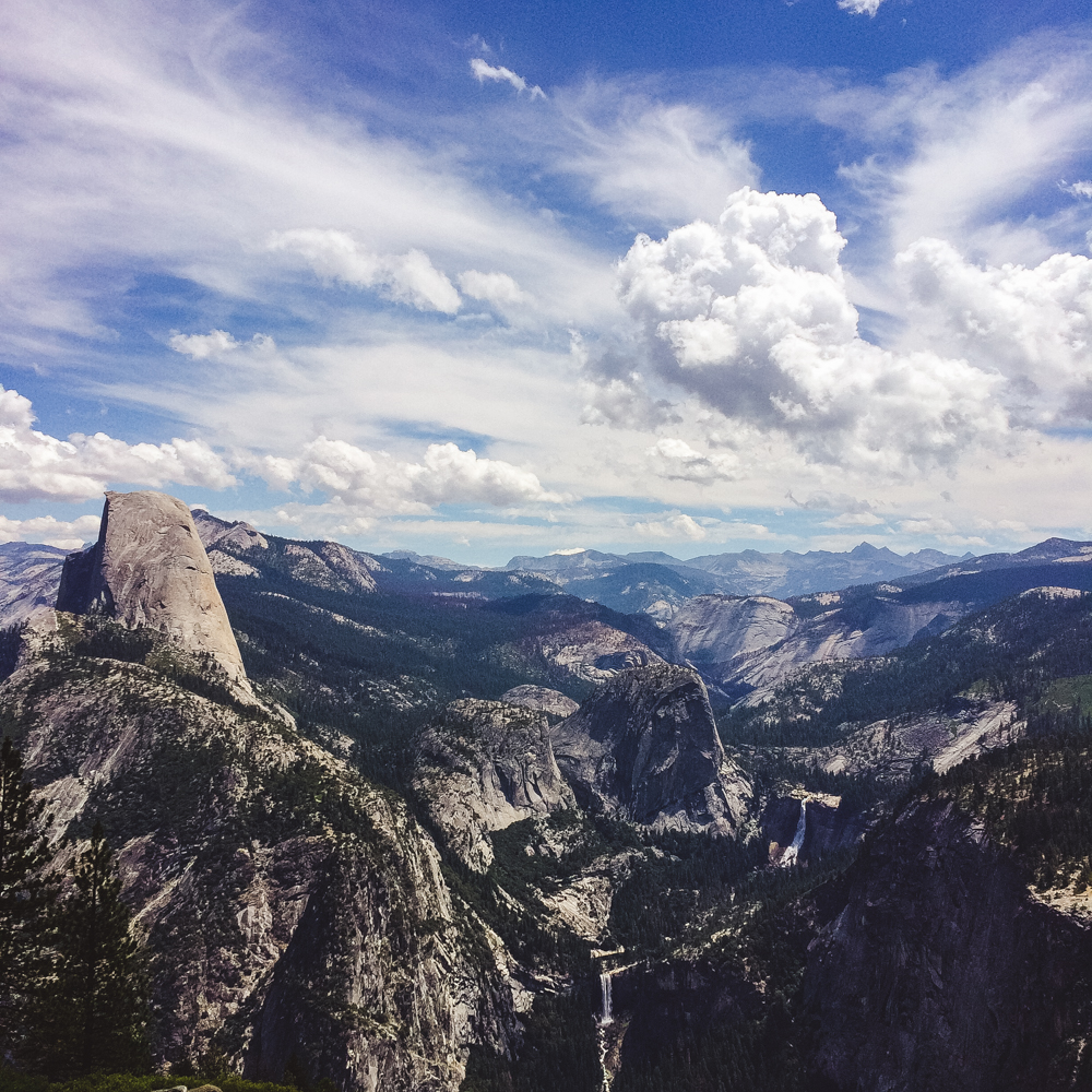 The view from Glacier Point - it was one of the most amazing sights I've ever seen.