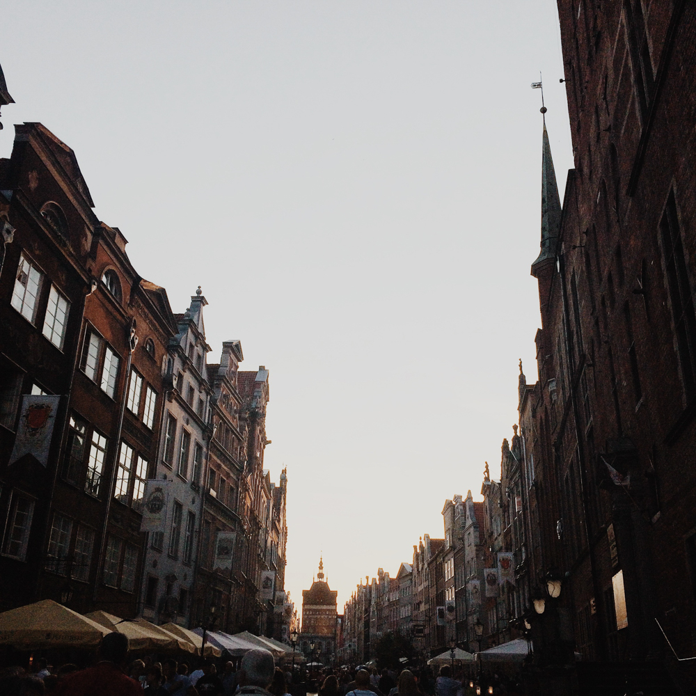 Our first night out in Gdansk. I remember coming out of the building after dinner and being in awe at the light at 9pm.
