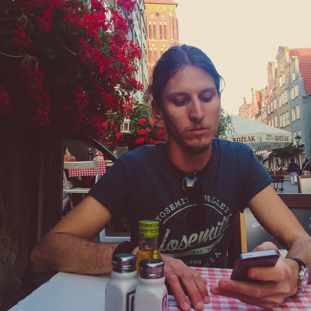 Dinner with Dan in the old town and main street of Gdansk.