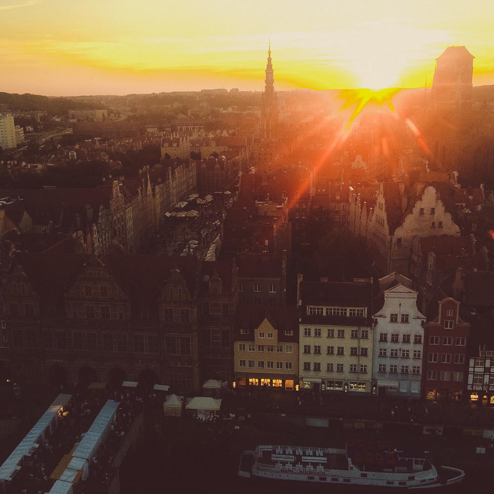 Sunset from the Gdansk Eye.