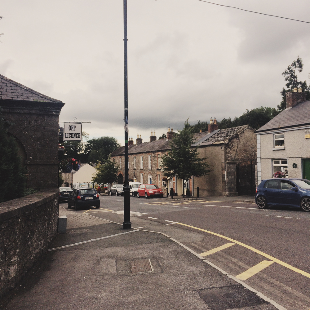 Walking around the suburb of Slane.