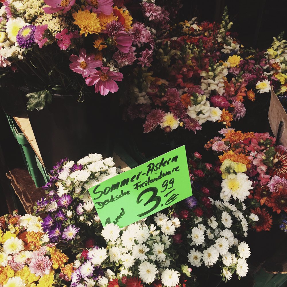 Flowers for the sale at the market.