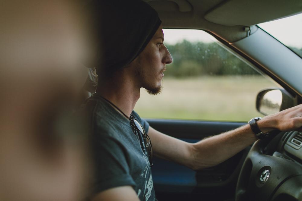 Dan driving us back home.