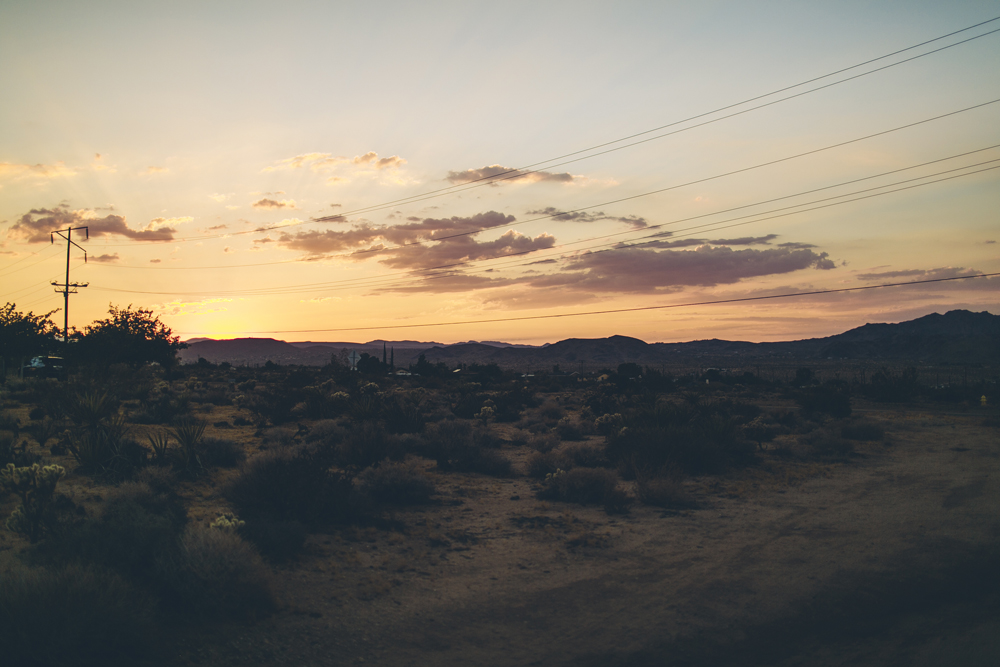 Experiencing my first sunset in the desert.