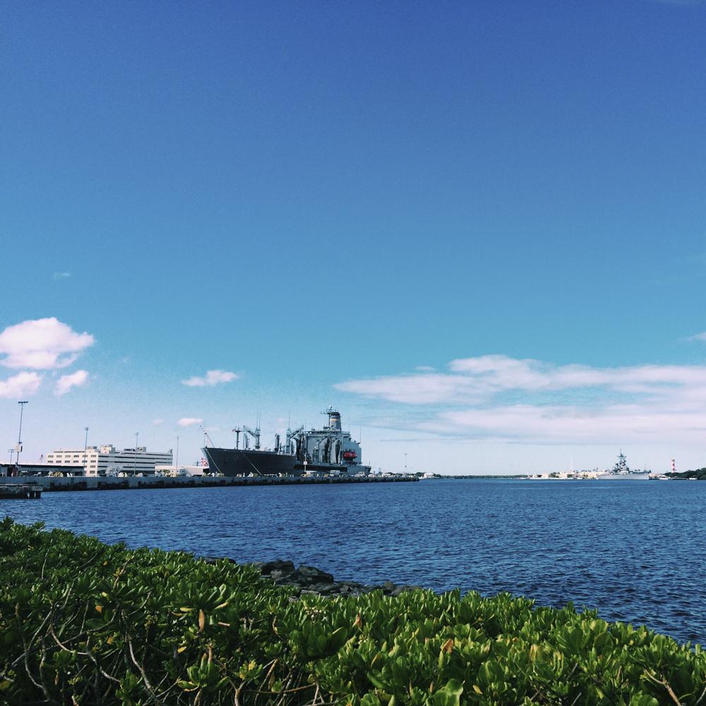 Visiting Pearl Harbour.