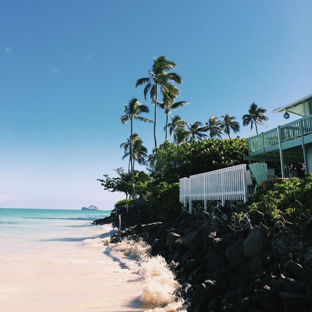We spent so many mornings swimming here at Lanikai Beach.