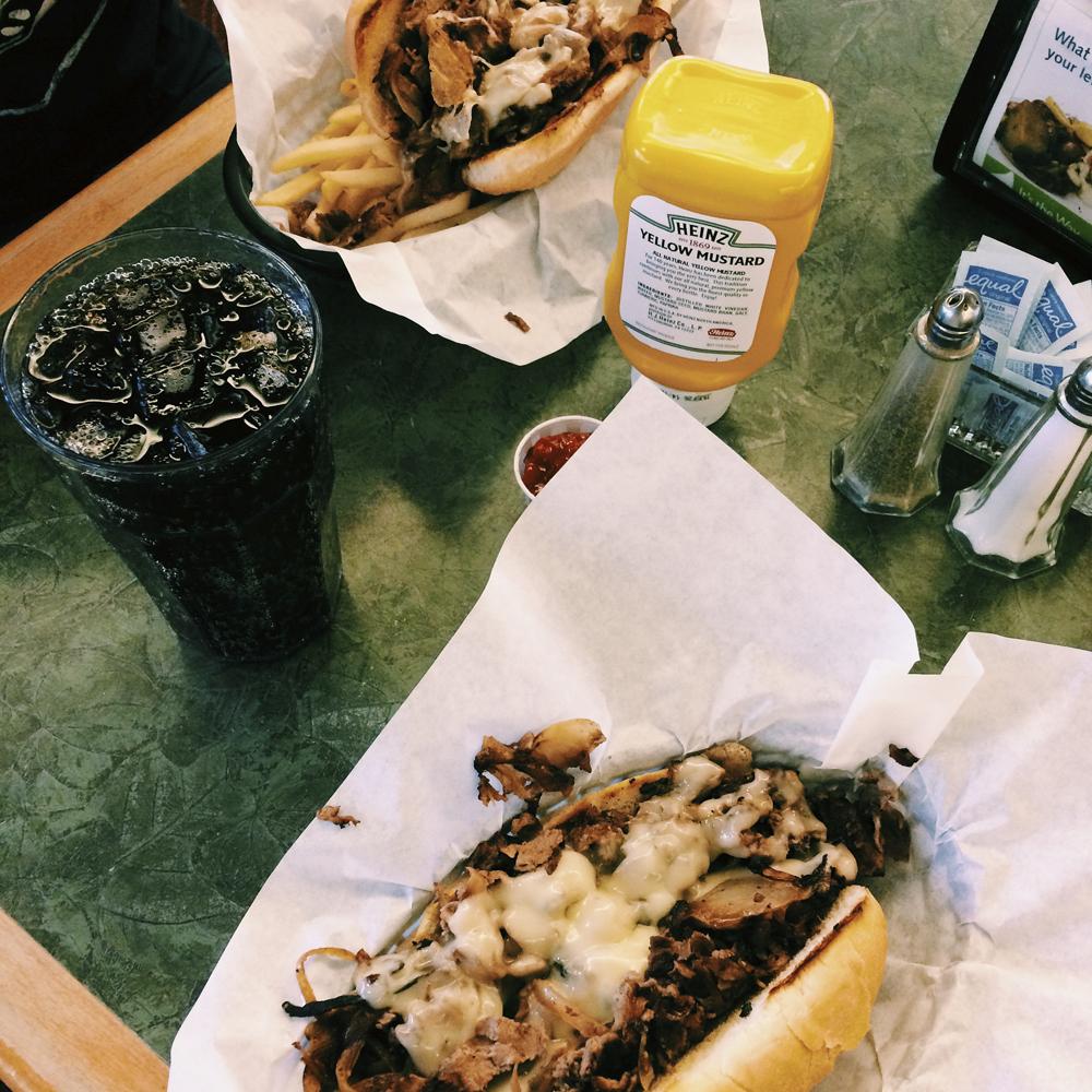 Philly cheese steak sandwiches. Heaven!